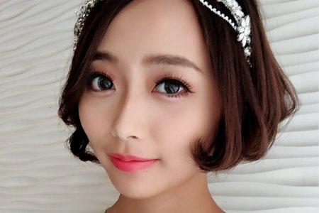 黎兒新娘秘書 噴槍彩妝 - 精緻眼妝 極短髮甜美造型