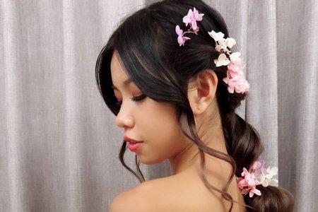 黎兒新娘秘書 噴槍彩妝-精緻眼妝 不同風格浪漫編髮造型