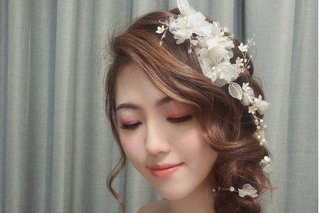 黎兒新娘秘書 噴槍底妝 - 法式浪漫編髮 精緻眼妝