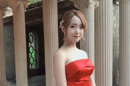 黎兒新娘秘書 噴槍底妝 - 時尚低馬尾 精緻眼妝