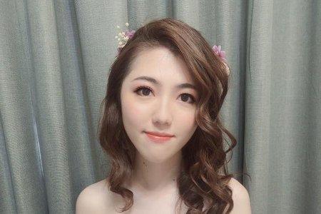 黎兒新娘秘書 噴槍底妝 - 浪漫甜美森林風夢幻造型 精緻眼妝