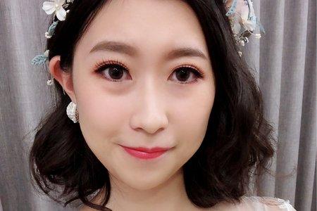 黎兒新娘秘書 噴槍彩妝-氣質短髮 眼型調整