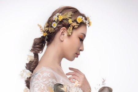 黎兒新娘秘書 噴槍底妝 - 絕美浪漫乾燥花造型