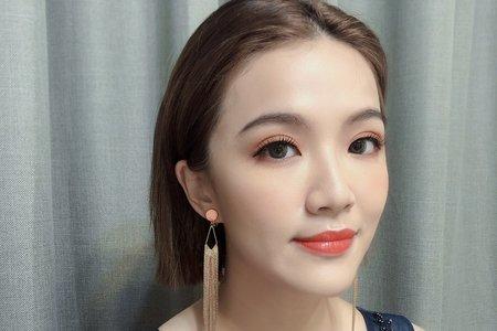 黎兒新娘秘書 噴槍底妝 - 短髮三造型 精緻眼妝