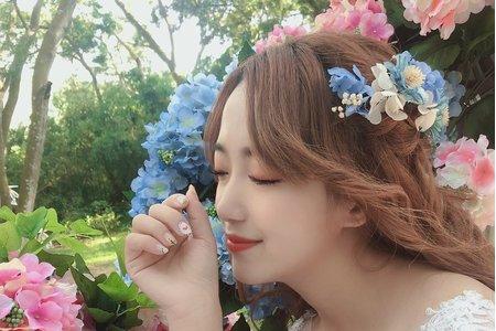 黎兒新娘秘書 噴槍底妝 - 鮮花 不凋花造型 精緻眼妝