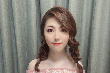 黎兒新娘秘書 噴槍底妝-自然好氣色妝容 編髮造型