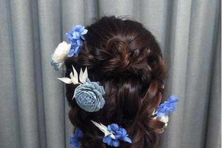 黎兒新娘秘書 噴槍底妝 - 鮮花造型