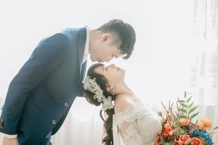 黎兒新娘秘書 噴槍底妝 - 氣質白紗造型 韓風婚紗