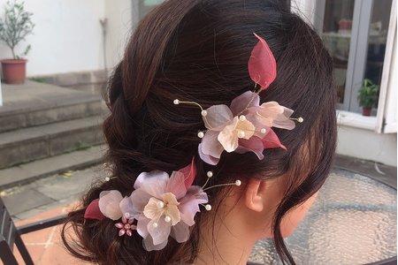 黎兒新娘秘書 噴槍底妝 - 氣質低盤髮