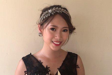 黎兒新娘秘書 噴槍底妝 - 優雅復古高盤髮