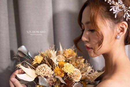 黎兒新娘秘書 噴槍底妝 - 優雅低盤髮