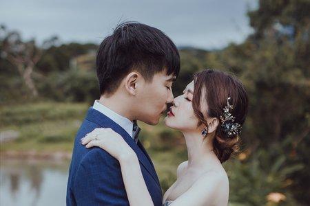 黎兒新娘秘書 噴槍底妝 - 氣質時尚低盤髮
