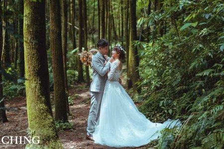 美式輕婚紗~1白1便服婚紗攝影方案