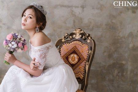 黎兒新娘秘書 噴槍底妝 - 高雅公主 低盤髮