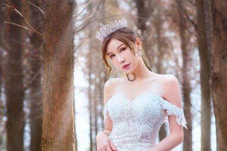黎兒新娘秘書 噴槍底妝 - 落雨松婚紗 優雅高馬尾