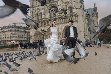 浪漫巴黎。海外旅拍婚紗