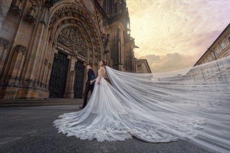 歐洲布拉格。海外婚紗
