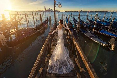 歐洲威尼斯。海外婚紗