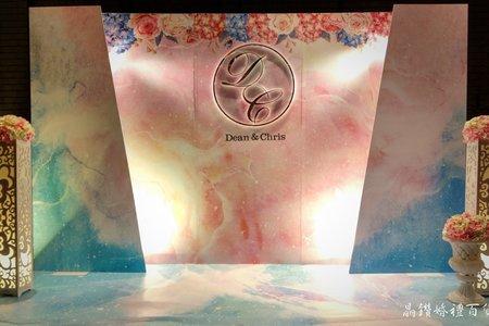浪漫粉彩立體背板15900主題方案