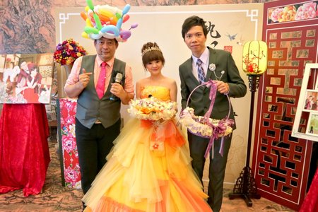 台南婚禮主持人+魔術汽球表演+川劇變臉+中國式情境佈置