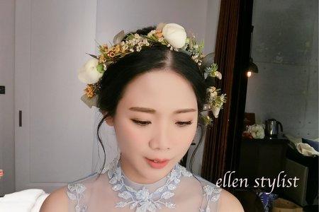 台中新秘瑋綸Ellen-萊特薇庭婚禮造型