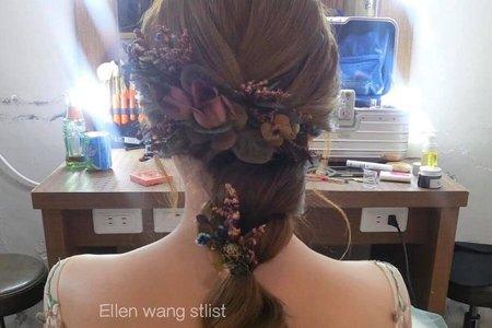台中新秘瑋綸Ellen-手作乾燥花飾🌹韓式編髮新娘造型👰