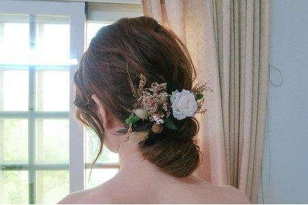 ellen wang stylist 低盤髮造型設計