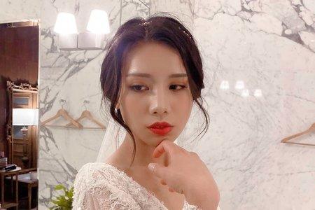 ellen wang stylist婚禮造型-薆悅酒店