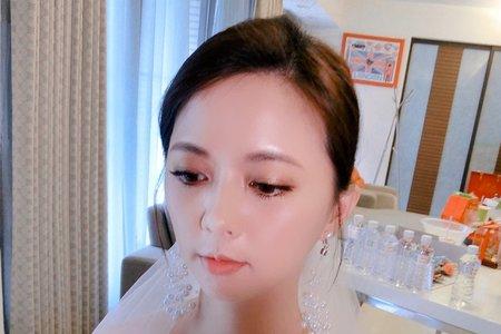 ellen wang stylist短髮白紗造型