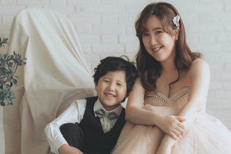 新娘秘書NINA彩妝整體造型_全家福寫真