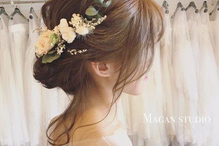 甜美仙氣盤髮造型