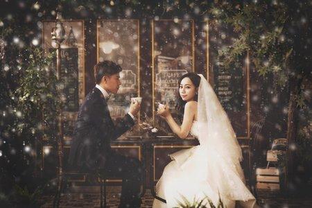 婚紗攝影棚拍攝_韓風婚紗攝影_堂攝影