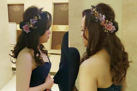 婚宴  乾燥花公主造型
