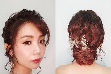 雅米文定造型≈ 日式優雅低髮髻