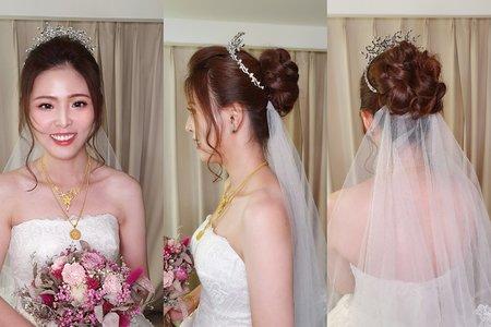 婚宴現場 新娘孝珍甜美花包造型