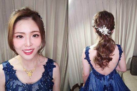 婚宴現場 新娘孝珍 優雅 韓式 低馬尾