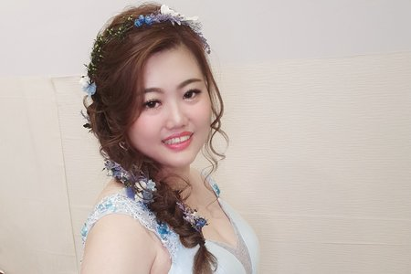 婚宴現場 新娘嘉娟花仙子送客造型