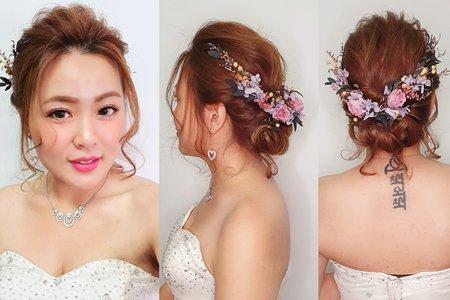 105.Lin 甜美低髮髻