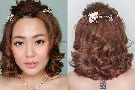 Lin 甜美短髮造型