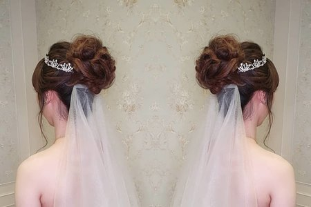婚宴現場新娘菁筠氣質典雅造型