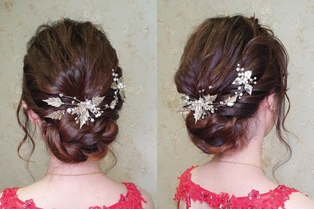 婚宴現場 新娘菁筠 簡約典雅造型