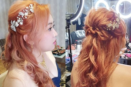 婚宴現場 新娘 宜萱公主造型