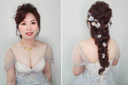 170.婚宴現場髮慈萍 蓬鬆 甜美 編髮造型