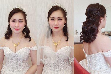 176.婚宴現場 茜茜一進場 韓式大波浪公主 造型