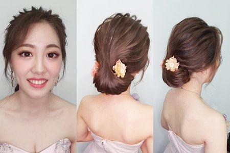 婚紗作品炤炤 韓風 婉約線條低髮髻
