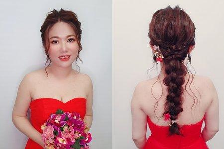 新娘試妝 指定 浪漫甜美編髮