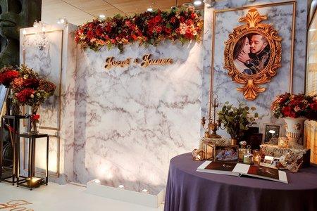 村花弄囍婚禮佈置   鑲金玫瑰