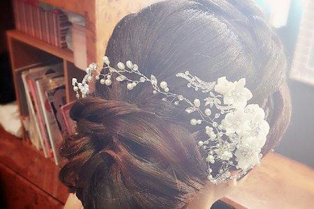 新秘APPLE作品示範:新娘包頭[2015-11-23]