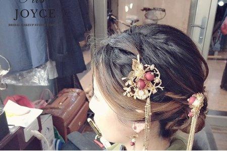 優雅氣質的中式盤髮造型