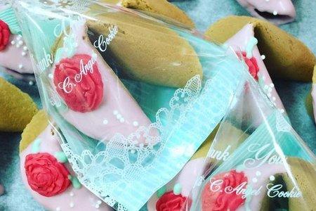 玫瑰花幸運餅乾-內文可更換客製化籤語